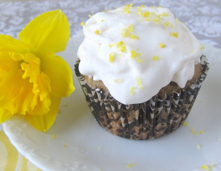 Lemon Quinoa Flour Cupcakes with Lemon Frosting (Gluten Free)