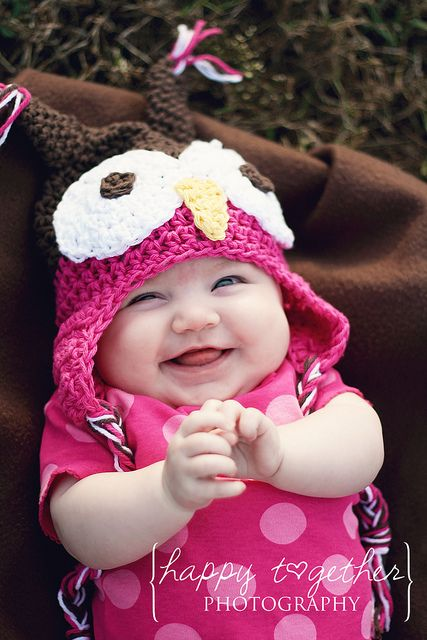 Free Crochet Owl Hat Pattern. So cute.