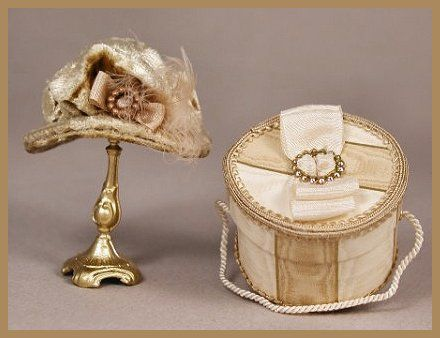 miniature hat and hat box