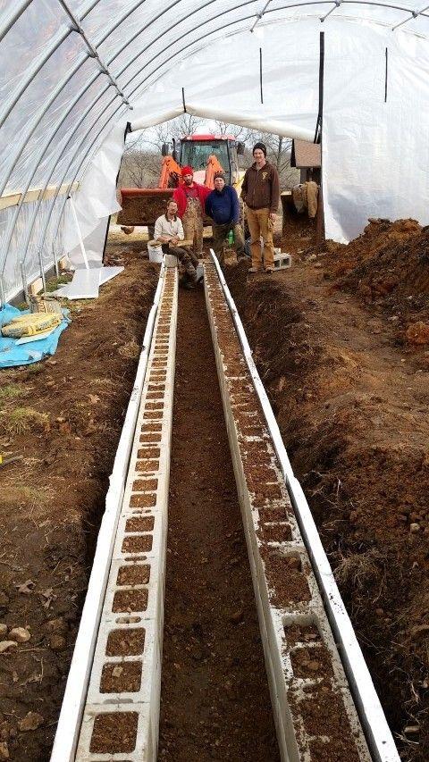 Greenhouse rocket mass heater                                                                                                                                                      More