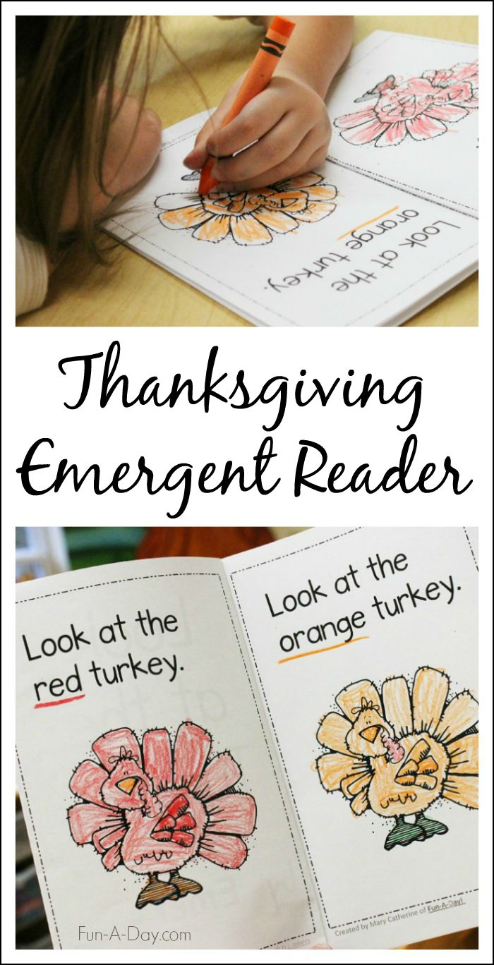 Free Thanksgiving early reader for kids - Simple, repetitive text that helps teach early literacy skills