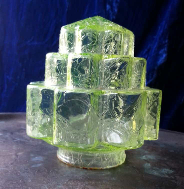 14 best art deco lampshades images on pinterest lamp shades 1930s art deco green crackle glass lampshade in geometric stepped shape mozeypictures Images