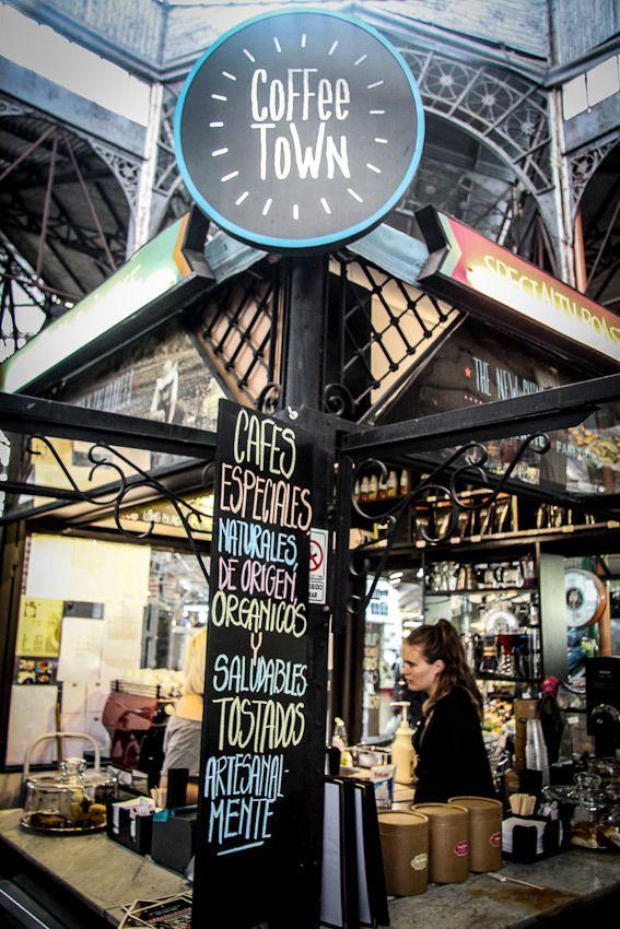 Coffee Town in the Mercado de San Telmo.