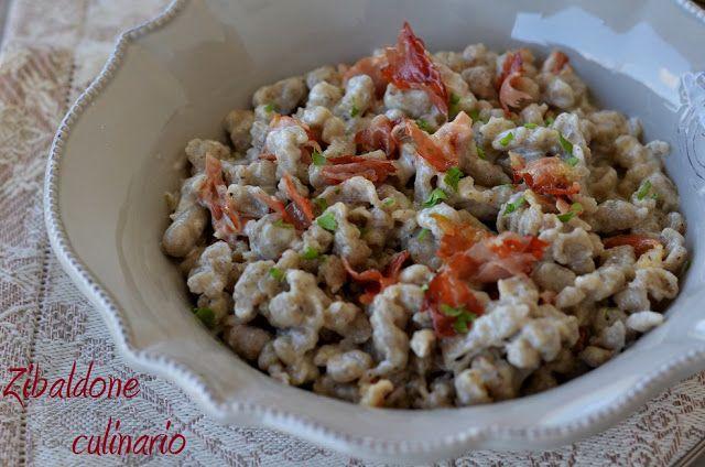 Zibaldone culinario: Spatzle di farina di grano saraceno con speck e panna