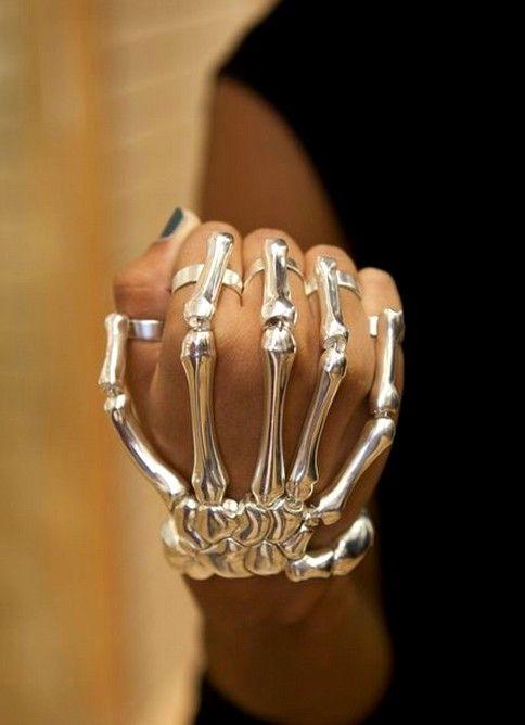 Delfina Delettrez, skeleton hand bracelet