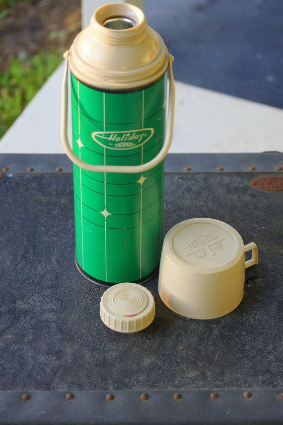 Vintage Holiday Thermos   THERMOS