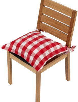 Gingham Checked Seat Pad | M&S