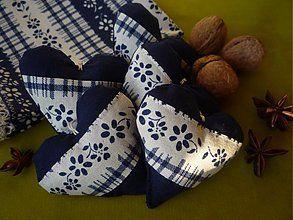 Dekorácie - Srdiečko modré vidiecke - 3078577