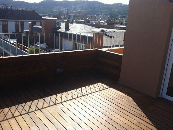 instalacin tarima vallas y jardineras de madera en terraza de vivienda particular park house