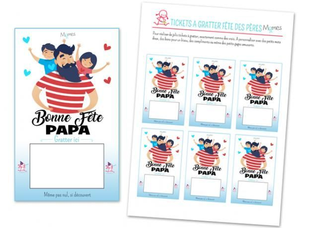 Tickets A Gratter Bonne Fete Papa Tickets Tickets A In 2020 Activities For Kids Papa Kids