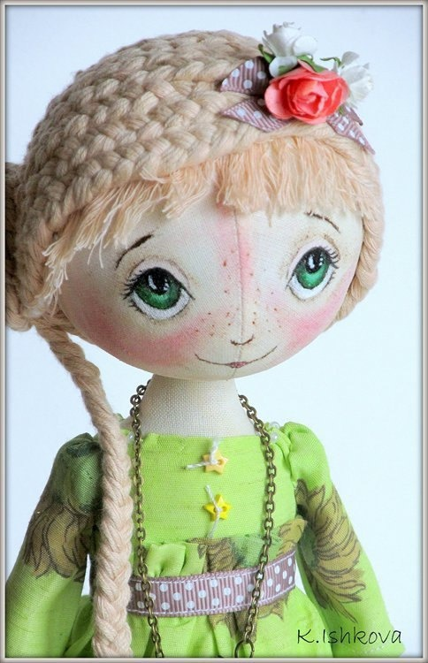 Textile doll Ketty Can be repeated by ArtDollsByKseniya on Etsy