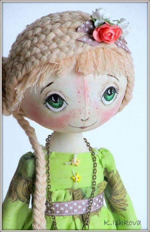 Textile doll Ketty Can be repeated by ArtDollsByKseniya on Etsy