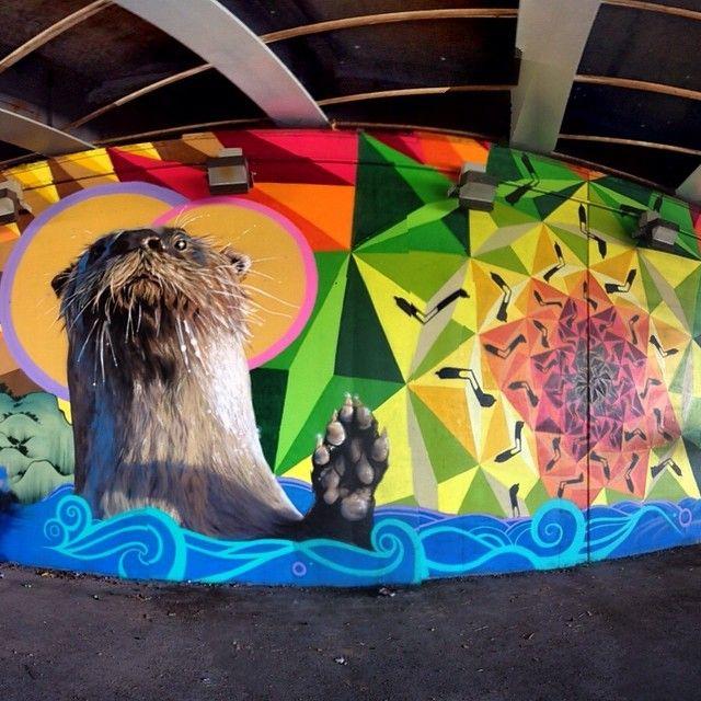 Collab Kevin Ledo (Canada) + Sapiens (Brazil) - New mural - For Essencia Festival - Toronto, Canada - 28.08.2014