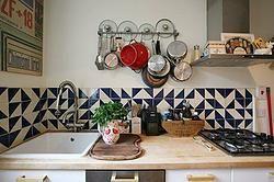 Геометрический декор в интерьере кухни