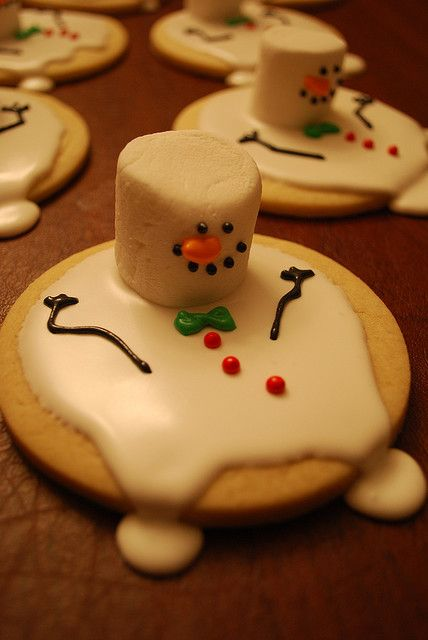 Great christmas biscuit decorating idea. Use royal icing, with carob for the dark bits and Hoppers pearls for the buttons