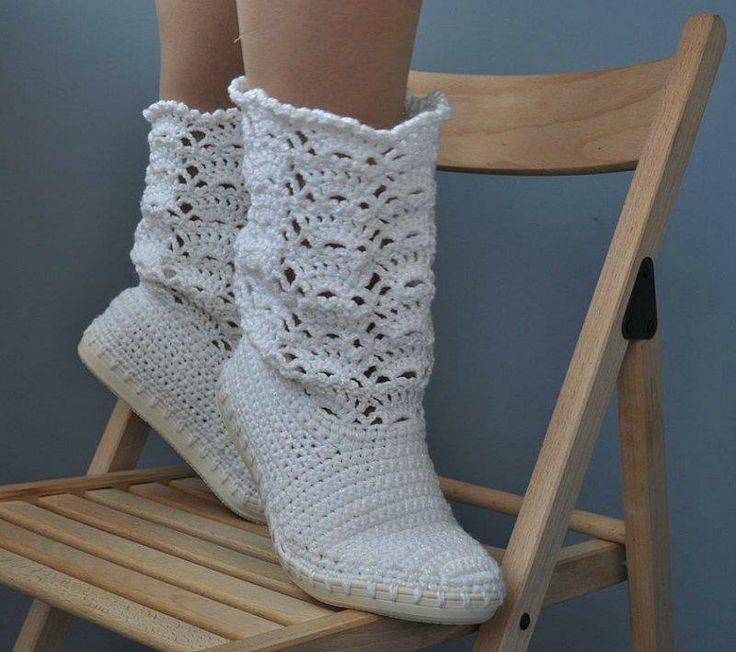 Mejores 67 imágenes de Botas tejidas en Pinterest | Botas tejidas ...