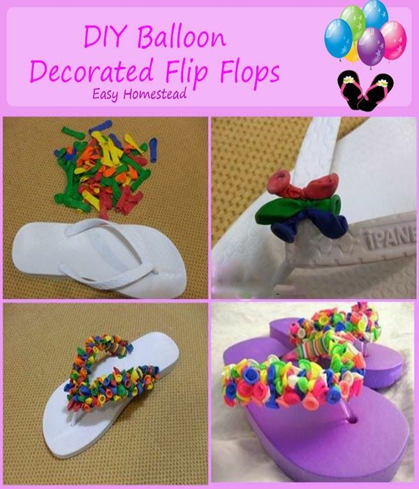 #DIY Balloon Flip Flop, you can also do this with material or ribbon.