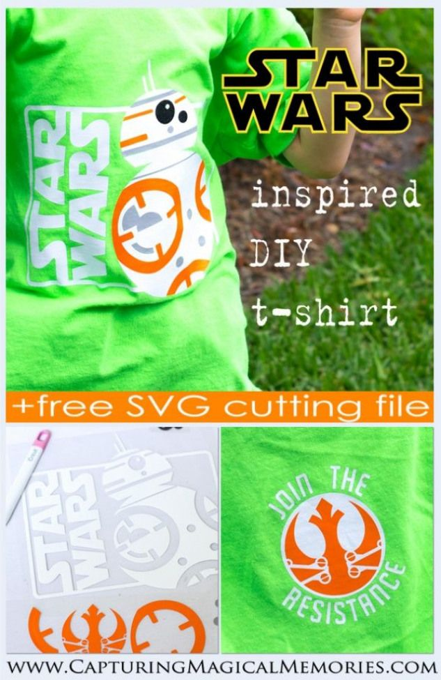 DIY Star Wars Inspired BB-8 T-Shirt free SVG cutting file
