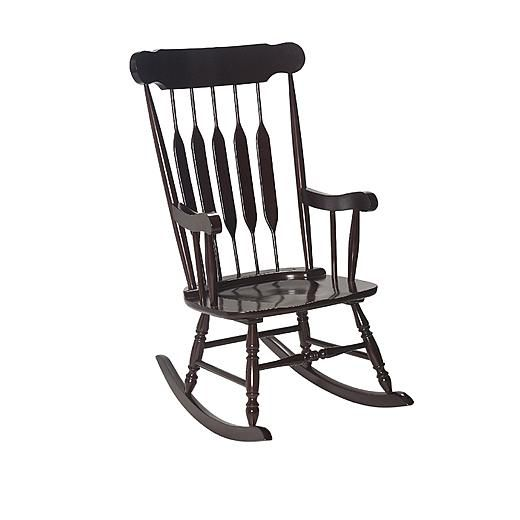 concepts hunter green rocking chair rocker solid wood forward ...