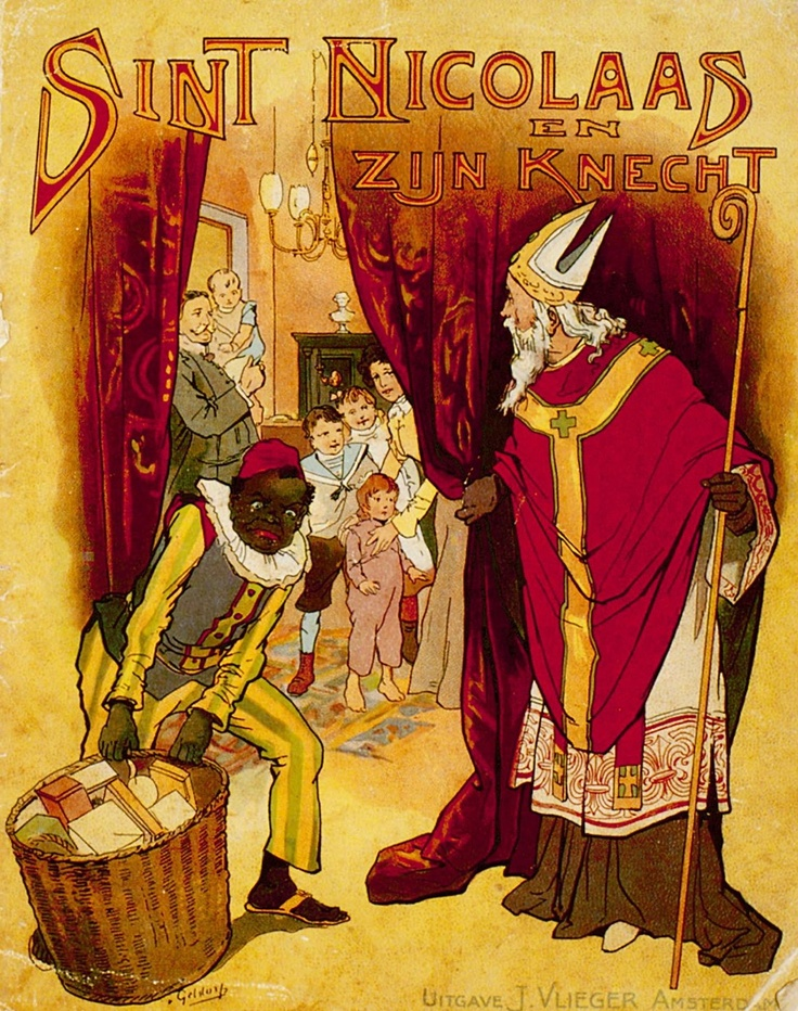 """Voorkant van het boek """"Sint Nicolaas en zijn knecht"""" van Jan Schenkman uit 1850."""