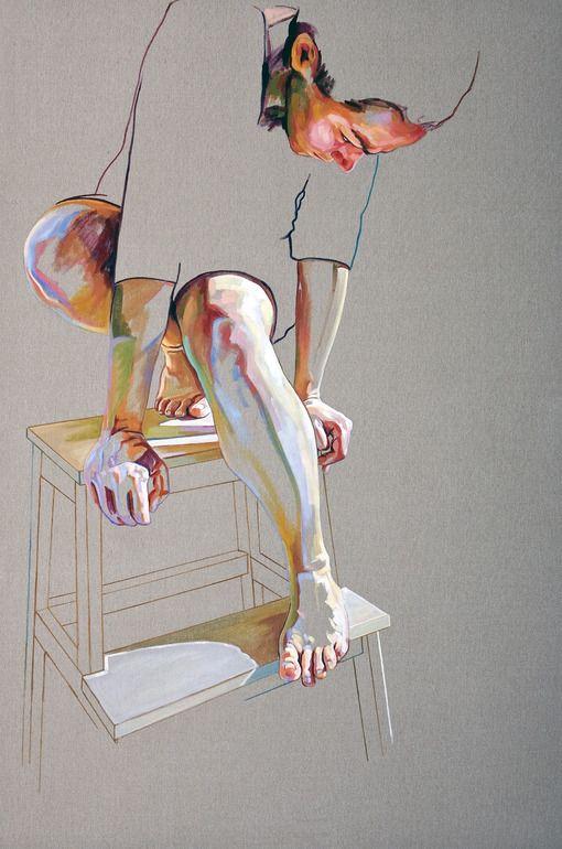 "Saatchi Online Artist: Cristina Troufa; Acrylic, 2011, Painting ""Pedestal"""
