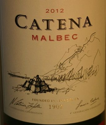 HIPPOVINO: Catena, maison de grands vins argentins - Catena Malbec  vin rouge - Argentine - Mendoza - Code SAQ : 00478727
