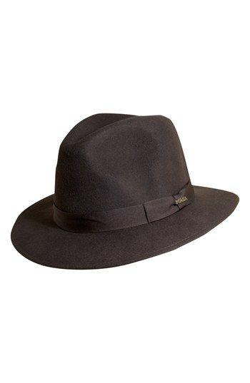 Men's Scala 'Classico' Crushable Felt Safari Hat - Brown