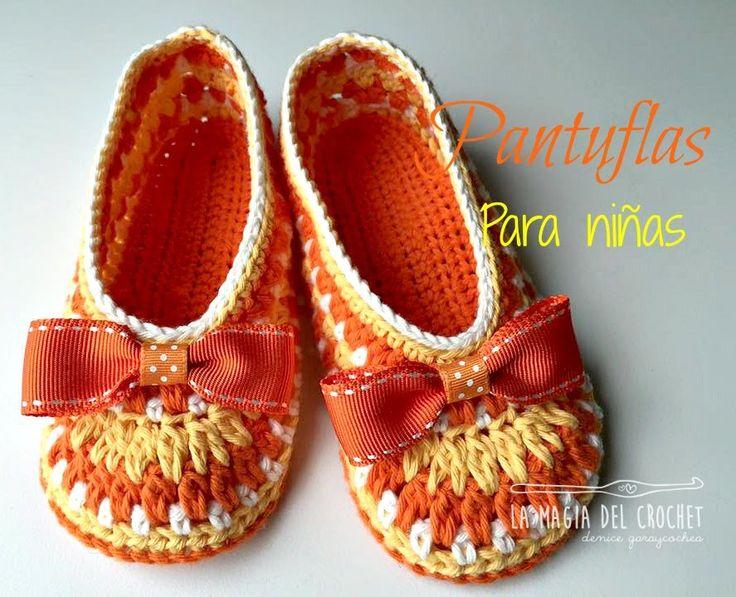 como hacer pantuflas a crochet para nias de 3 a 4 aos