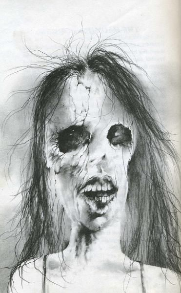 "Stephen Gammell, ""Scary Stories to Tell in the Dark."" The publisher is destroying the original artwork and replacing them with new illustrations for a new edition."
