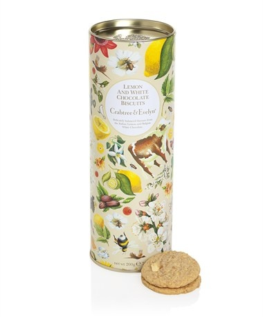 Lemon & White Chocolate Biscuits 200g | Crabtree & Evelyn
