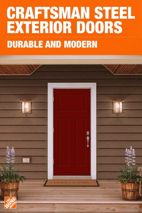 Updating your entryway door is one of the easiest and most cost-effective things that you can do to give your home's exterior a refresh. Choose a door that's just as durable as it is beautiful. JELD-WEN Premium Steel doors are strong, energy-efficient, and simple enough to go with any home's style. Click to shop these secure doors.