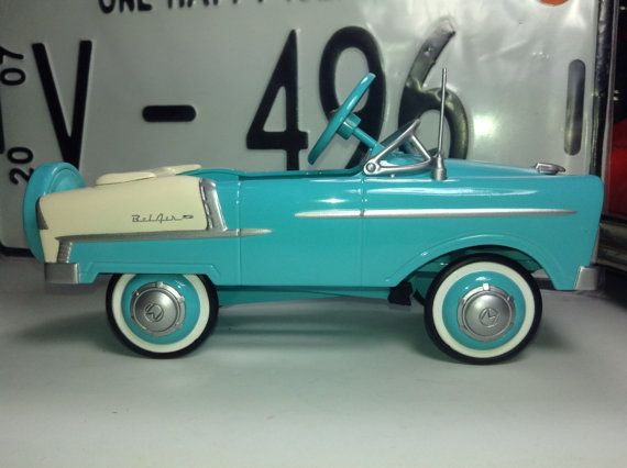1955 chevrolet belair pedal car 124 scale vintage antique diecast metal model toy child birthday father dad custom midget show