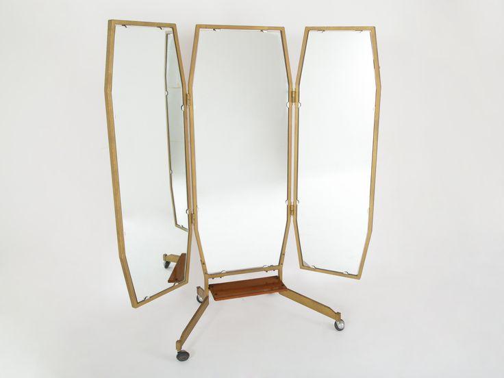 Specchio a tre ante anni '60
