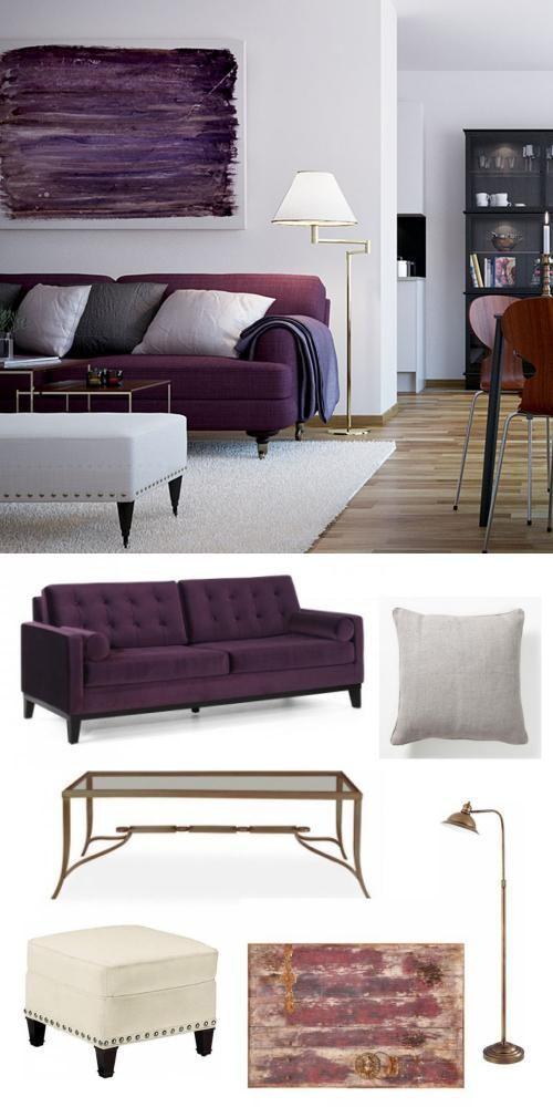 Purple Livingroom Mardigras Adoredecor
