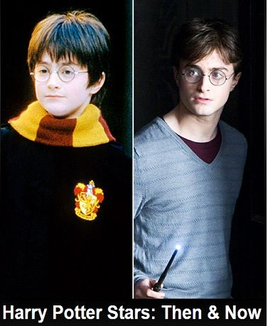 Harry Potter Stars: Then & Now. Shown here two decidedly different Daniel Radcliffes. One young, one more grown up.