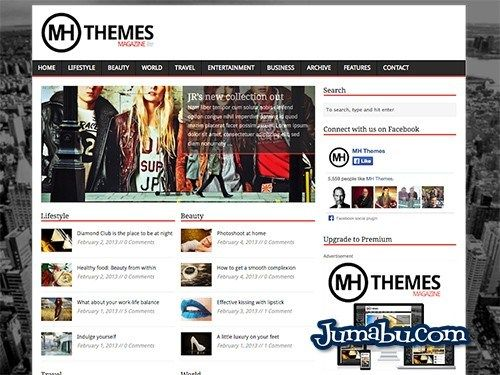 Plantilla para Wordpress Gratuita Tipo Magazine | Jumabu! Design Tools - Vectorizados - Iconos - Vectores - Texturas