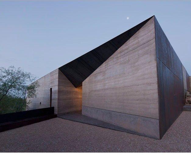 Wendell Burnette, desert courtyard house, Construction Zone: