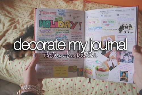 Decorating journals relieve stress and helps build personality