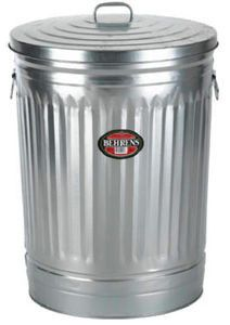Behrens 20-Gallon Steel Trash Can traditional kitchen trash cans