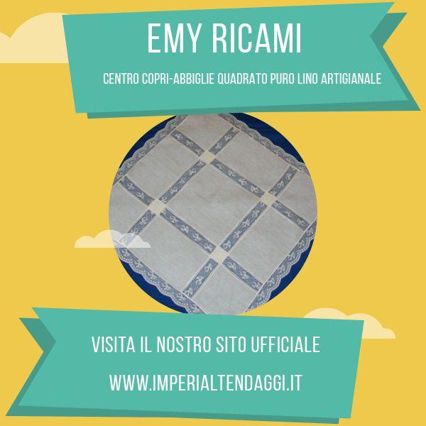 Centro copri-abbiglie quadrato puro lino artigianale Emy Ricami!  http://www.imperialtendaggi.it/eshop/centri-lino-emy-ricami/35-centro-copri-abbiglie-quadrato-puro-lino-artigianale-anastasia.html