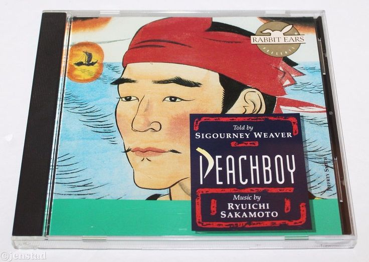 PEACHBOY JAPAN FOLKLORE TOLD BY SIGOURNEY WEAVER RYUICHI SAKAMOTO AUDIO CD 1991