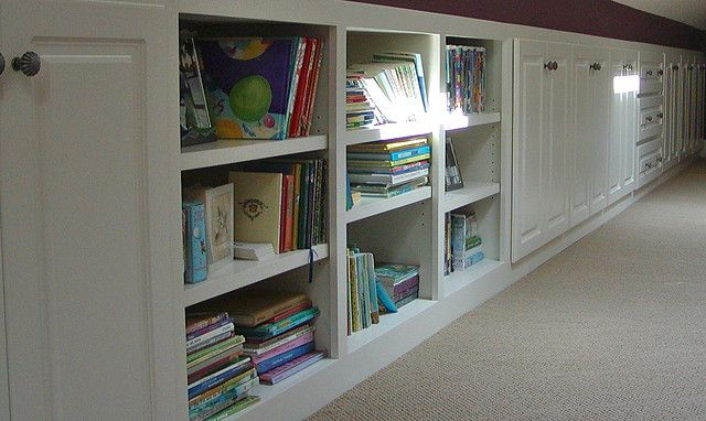 Built-ins in Eaves of attic space