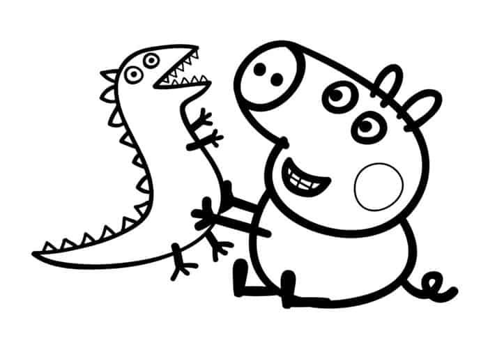 Peppa Pig Coloring Pages Transparent Background Peppa Pig Coloring Pages Dinosaur Coloring Pages Peppa Pig Colouring