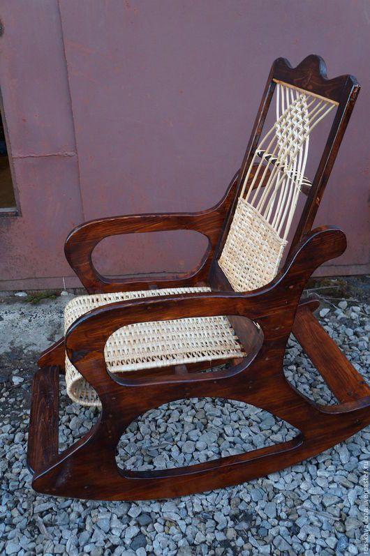 Мебель ручной работы. кресло качалка из массива сосны. vladimir (Russkaya-Loza). Интернет-магазин Ярмарка Мастеров. Кресло