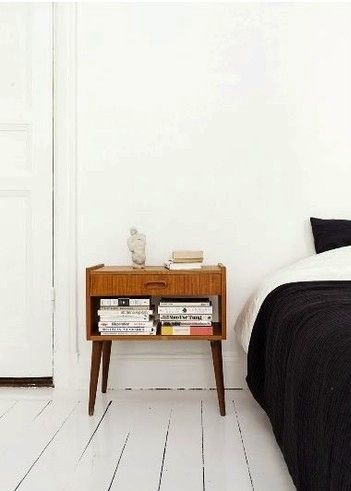 Mid century modern nightstand | I'm digging this look recently
