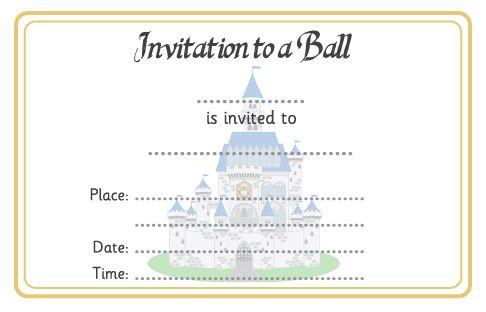 Cinderella Ball Invitation | Free EYFS / KS1 Resources for Teachers
