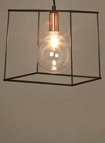 BHS Illuminate Atelier Paola Pendant Black Box Frame Light