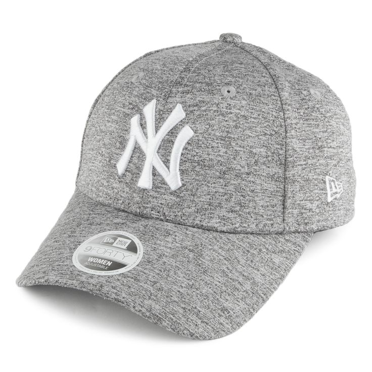New Era Womens 9FORTY New York Yankees Baseball Cap - Jersey Fleck - Grey