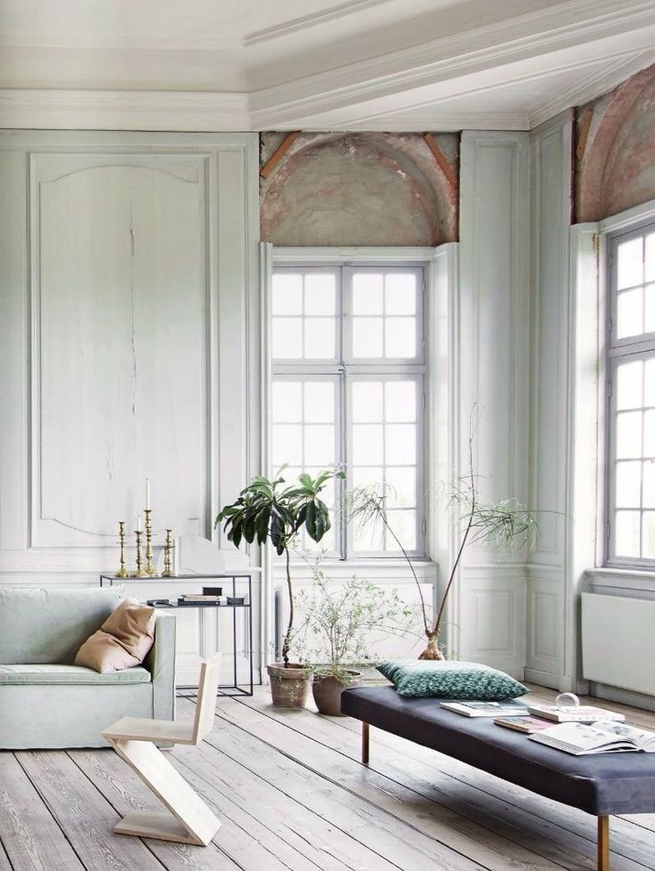 Love The Light Wood Almost White Washed Flooring And The Pale Robinu0027s Egg  Wall Panelling. Townhouse ...