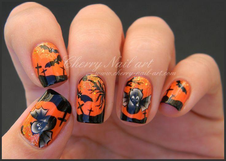CHERRY NAIL ART halloween  #nail #nails #nailart